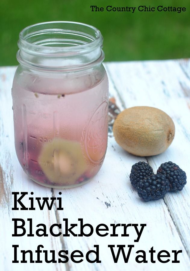Kiwi Blackberry Infused Water Recipe — try this infused water recipe for a refreshing treat.