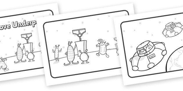 Aliens Love Underpants Story Sequencing (A4, Black & White