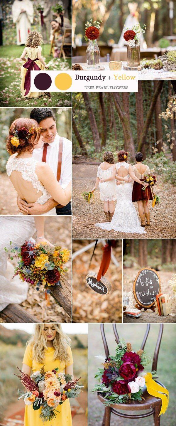 Best 25 Rustic wedding colors ideas on Pinterest  Fall