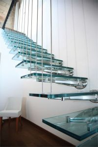 Glass and Stainless Steel Open #staircase TWIN by FARAONE ...