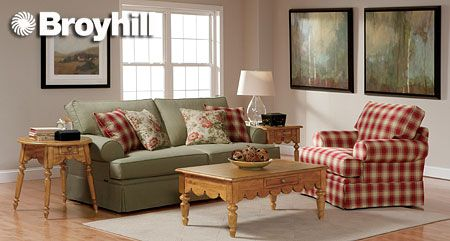 broyhill sleeper sofa metal bed instructions country plaid living room furniture | grq used ...