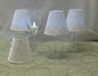 17 Best images about WINE GLASS CANDLES AND SHADES on ...