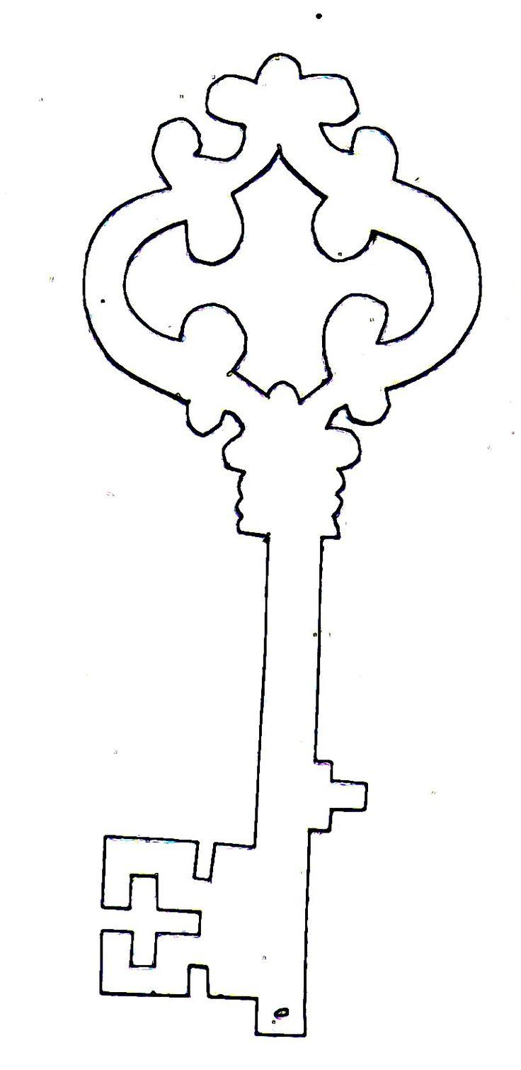 key.jpg (770×1580), free template for a skeleton key