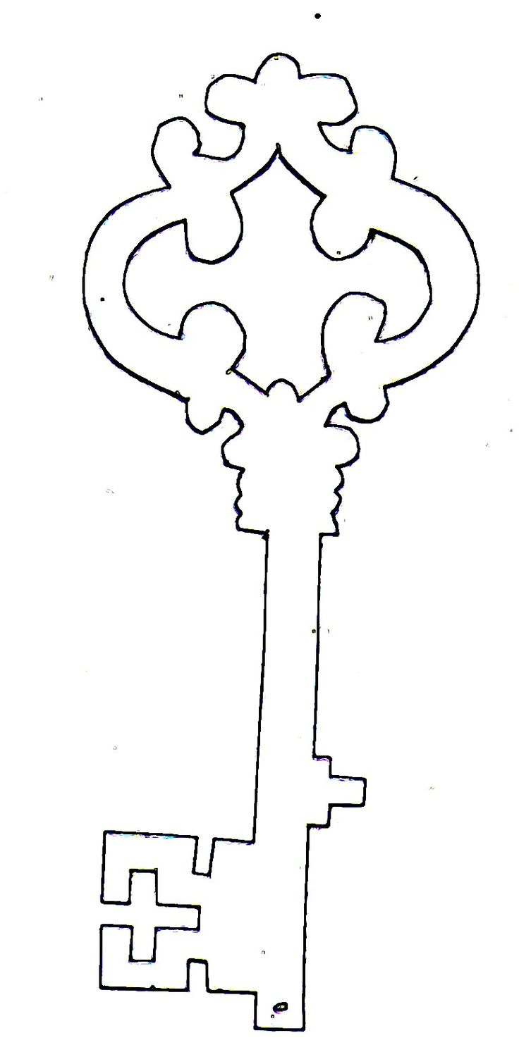 key.jpg (770×1580), free template for a skeleton key