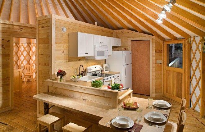 Yurt Interiors  Pacific Yurts  Yurts  Pinterest