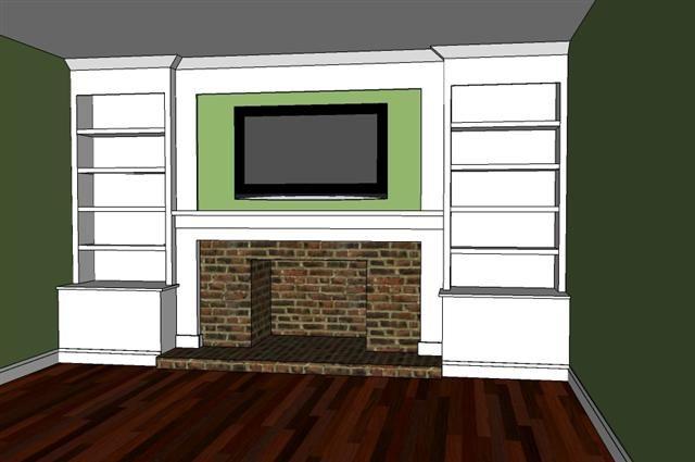 Built In Bookshelves Surrounding Fireplace DIY. I've Been