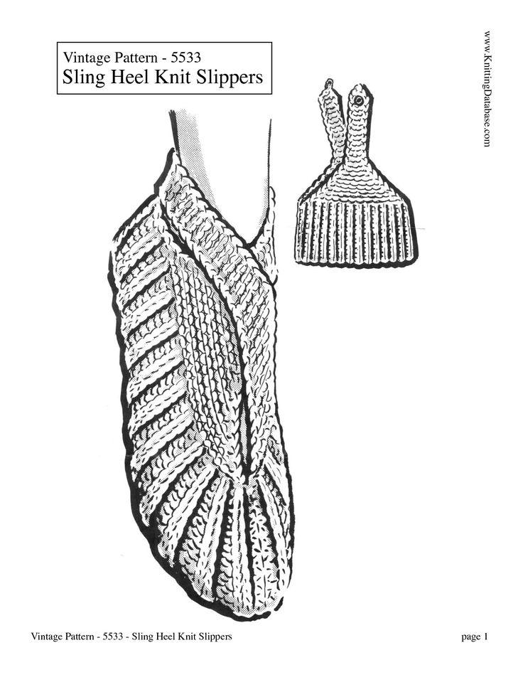 The 25+ best Knit slippers pattern ideas on Pinterest