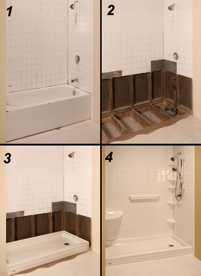 25 best ideas about Tub to shower conversion on Pinterest  Tub to shower remodel Bathroom