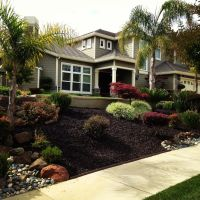 Use of rubber mulch (recycled tires) provides a good look ...