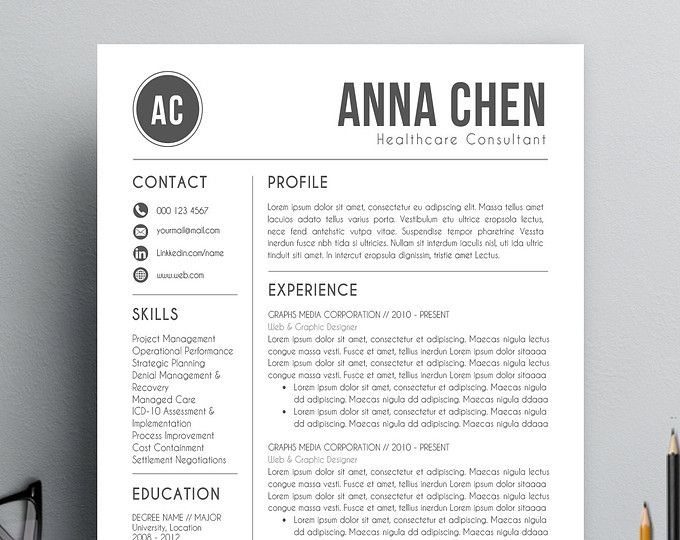 25 best ideas about Modern resume template on Pinterest  Modern resume Simple cv template and