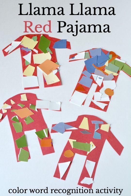 Llama Llama Red Pajama Color Words Activity Activities