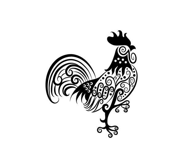 tribal chicken tattoo  Tattoos  Pinterest  Rooster
