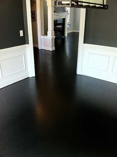 Red Oak With Total Black Stain too dark  Love it