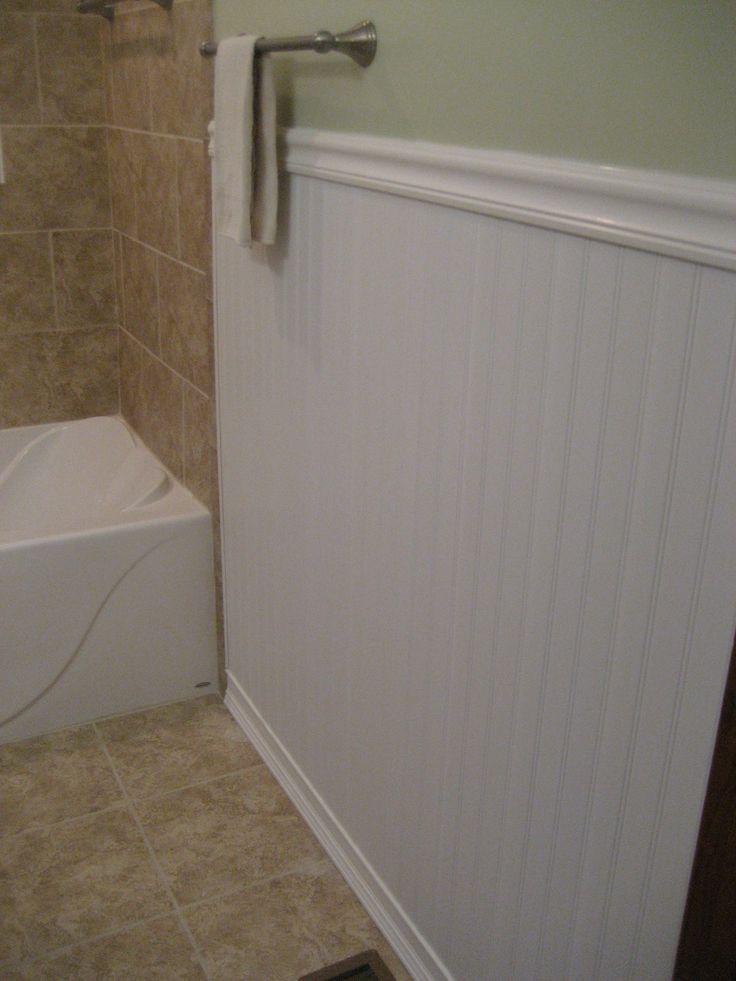 Pvc Vinyl Beasboard In A Bathroom  Bathroom Beadboard