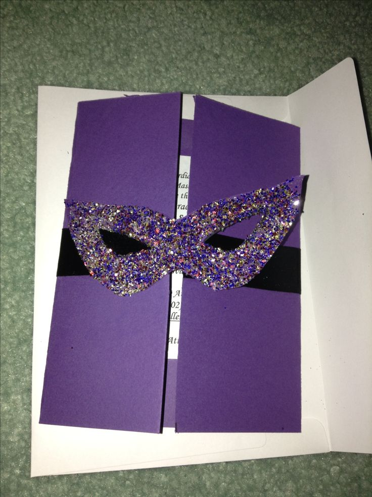 Homemade Masquerade Invitations Celebration Stuff
