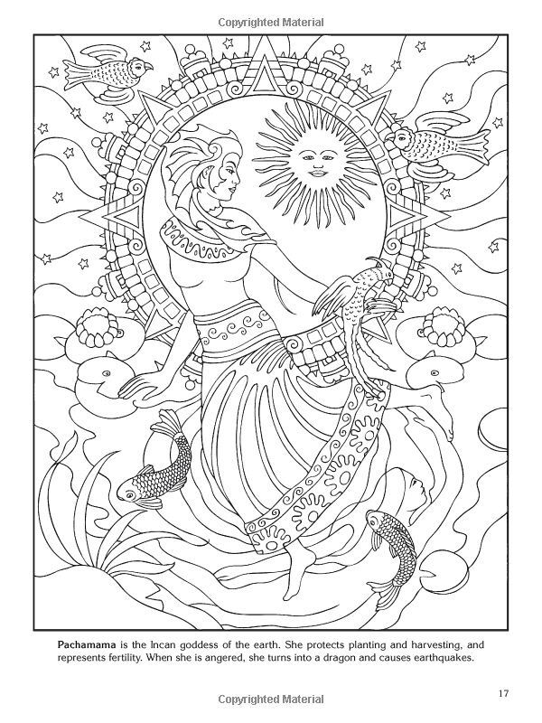 6 best images about god and goddess coloring on