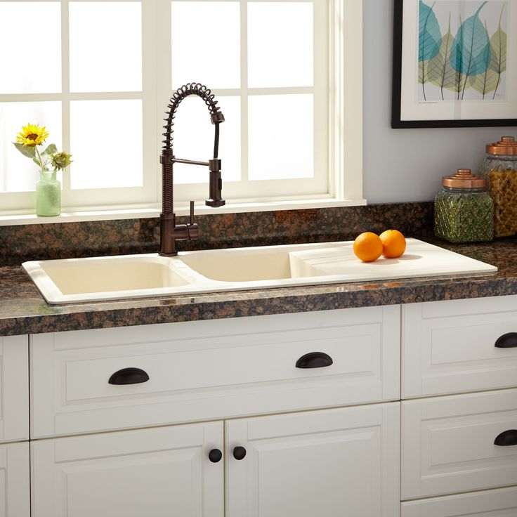 46 Quot Owensboro Double Bowl Drop In Granite Composite Sink