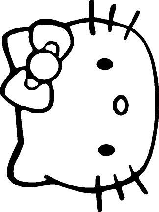 hello kitty desk chair ball chairs for students head vinyl wall decal: amazon.com: home & kitchen hk decal/silhouette | ...