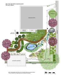 Japanese Garden Design Plans for Small Land: Spacious Land