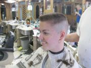 barbershop whitewalled flattop