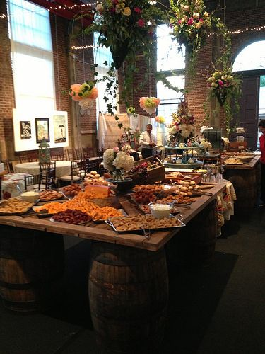 awesome rustic western country theme setting for wedding reception buffet style  Wedding