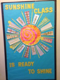 Bulletin board to start the new year.... Head start 3's ...