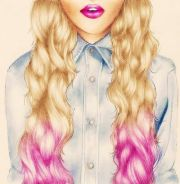 ombre blonde hair drawing drawings