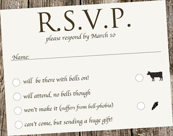 Wedding Invitations With Rsvp And