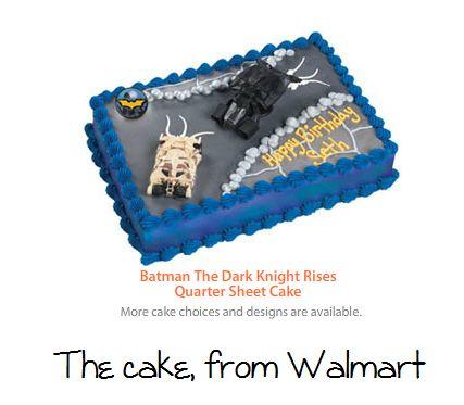 Batman Cake From Walmart Party Superhero Birthday