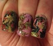 mossy oak camo inspired nails