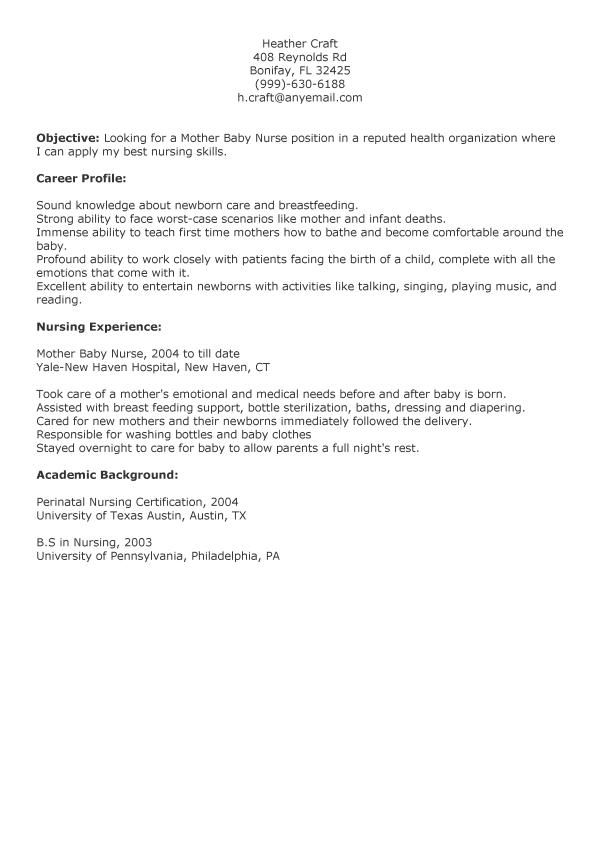 Mother Baby Nurse Resume Baby Pinterest Babies
