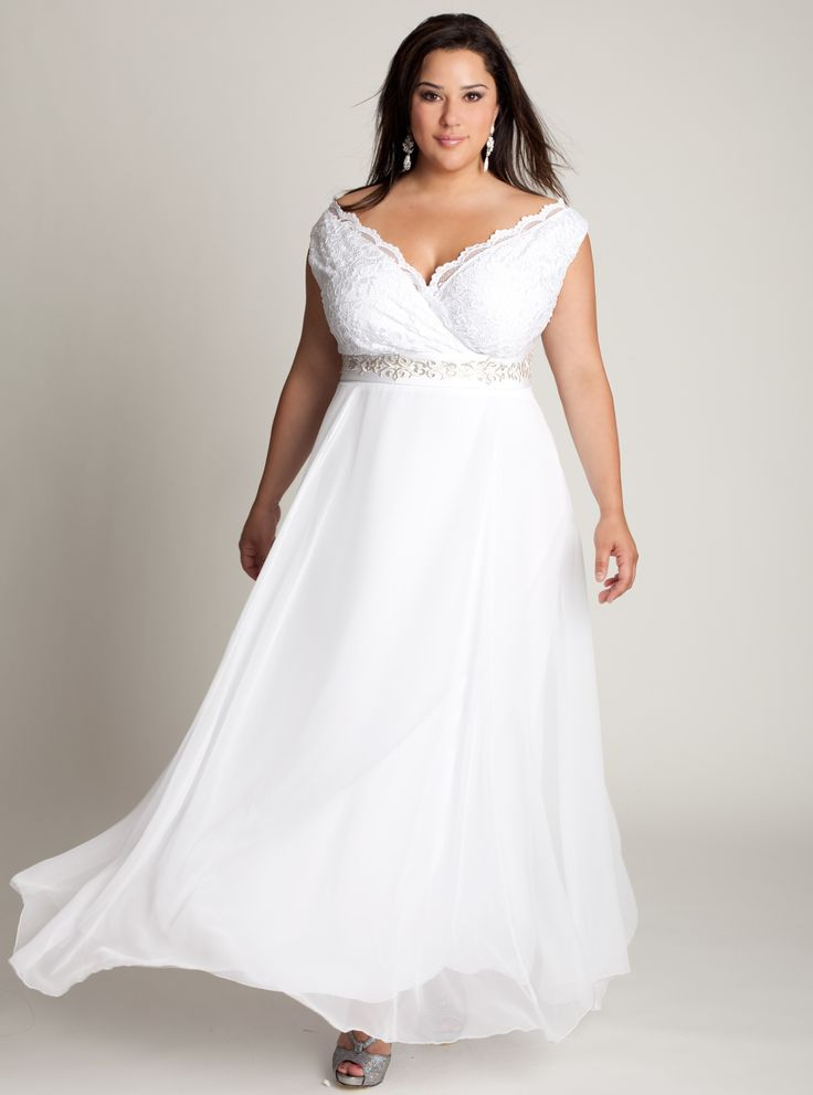 summer outdoor casual wedding dresses for plus size  Plus