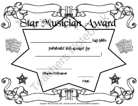 17+ best images about Music Certificates on Pinterest