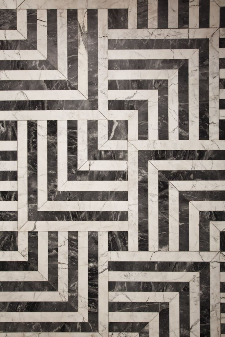Hypnotic pattern //// Black and white tiles...this MUST be