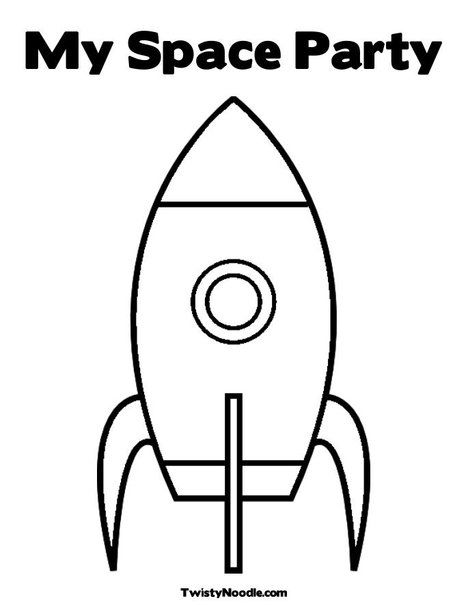 rocket ship coloring page (others on this site too