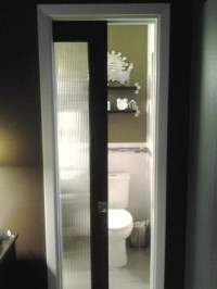 glass pocket door for small bathroom. | My bathroom. Redo ...