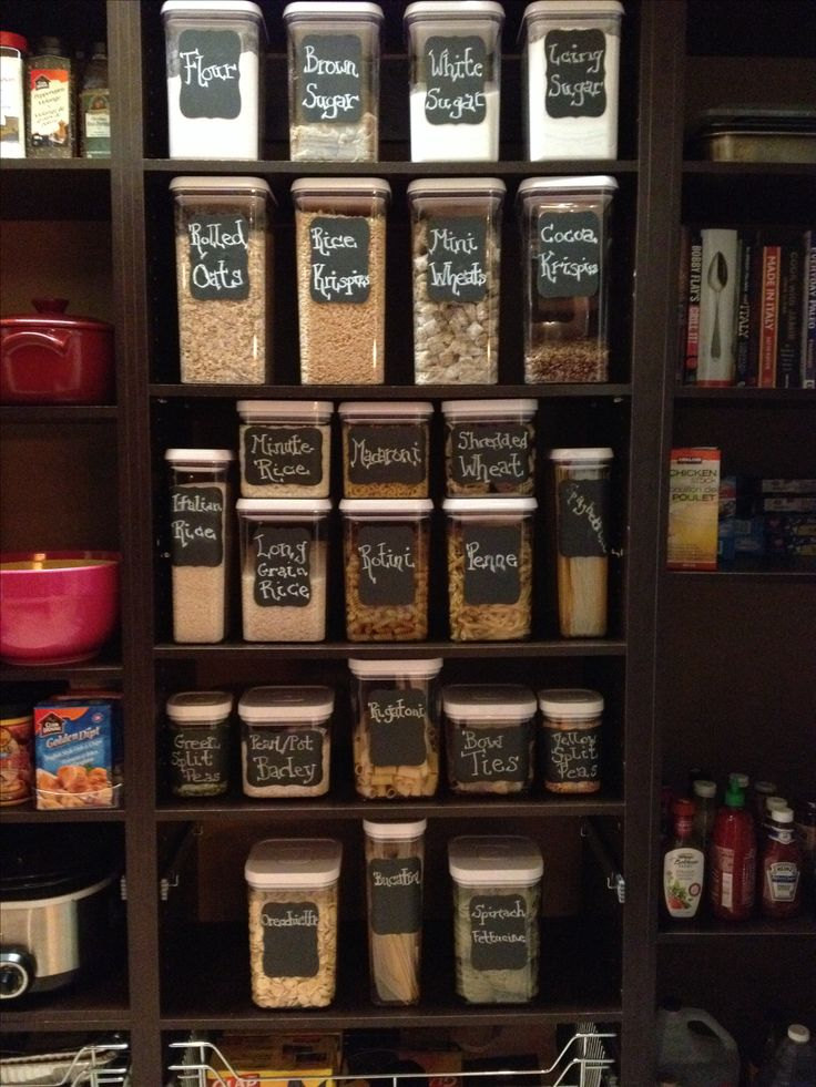 Pantry organizationusing OXO containers and Martha