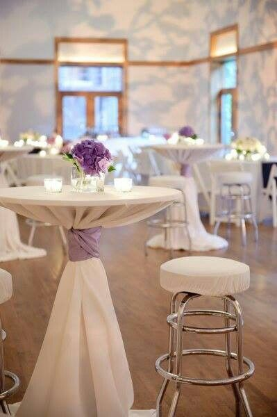 white chair covers with ivory sash wholesale for wedding 265 best images about cocktail table couture on pinterest | receptions, tablecloths and high top ...