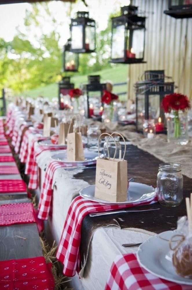 Western Wedding Table Decoration httpmemorablewedding