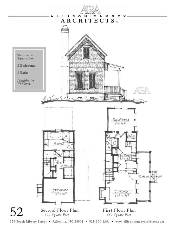 Camden Cottage Allison Ramsey Architects House Plans