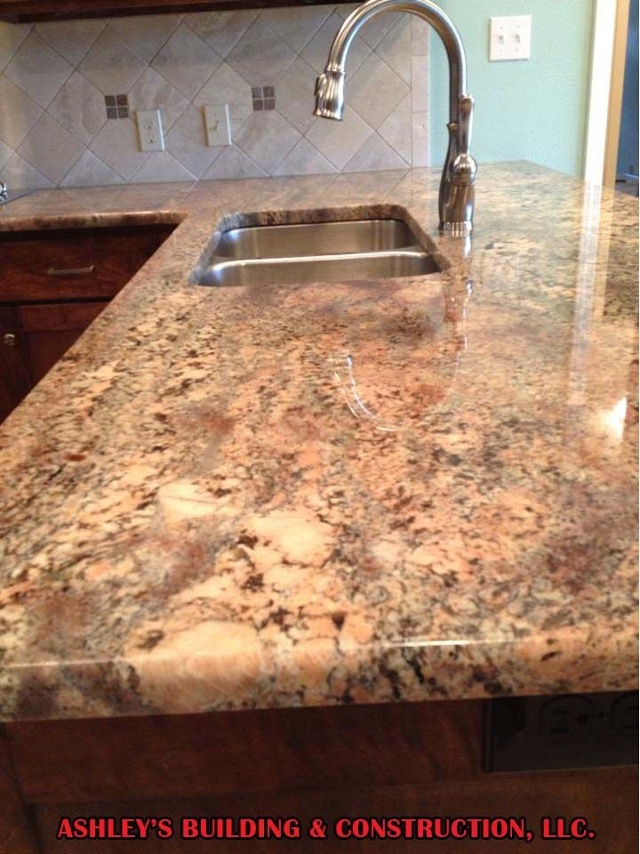 Crema Bordeaux Granite Counter Tops Kitchen Remodeling