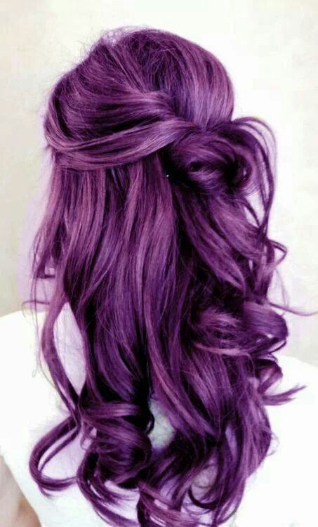 25 Best Ideas About Long Purple Hair On Pinterest Crazy Hair