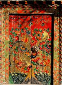 ornamental colorful Chinese door. | Dragon | Pinterest