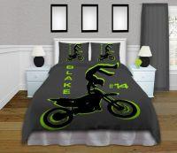 Motocross Duvet Cover, Kids Bedding Kids Rooms, Boys ...