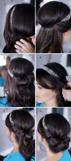 Les 25 Meilleures Idées De La Catégorie Frisuren Mit Haarband
