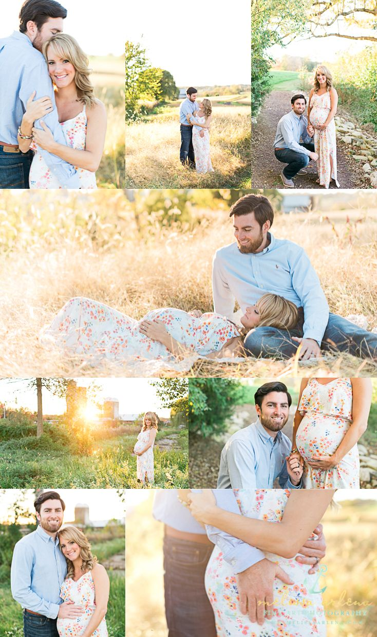 Gorgeous maternity session at sunset in a field! Taylor & Connor | Fredericksburg Va Maternity Photography | Melissa Arlena