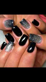 ideas black nails