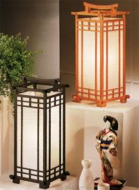 The rice paper Teahouse Lamp from Haiku Designs casts a ...