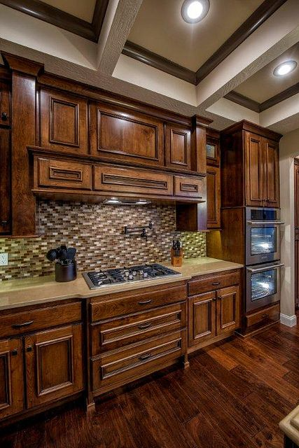 kitchen cupboards for sale temporary kitchen; knotty cherry cabinets; glass tile; quartz ...