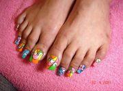 long acrylic toes - nail art
